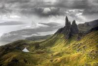 Jagged peaks in the wilds of Scotland