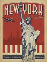 New York Retro Travel Poster