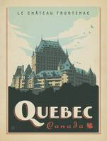 Quebec, Canada Retro Travel Poster
