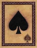 Ace Of Spades Vintage Playing Card