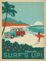 Surf's Up! Retro Poster