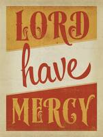 Lord Have Mercy Retro Poster