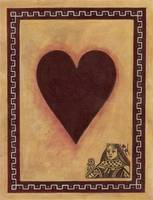 Queen Of Hearts Vintage Playing Card