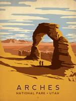 Arches National Park, Utah Retro Travel Poster