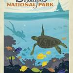 """Biscayne National Park, Florida Keys - Retro Trave"" by artlicensing"
