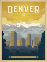 Denver, Colorado Retro Travel Poster
