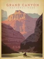 Grand Canyon National Park Retro Travel Poster