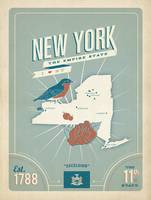 New York: The Empire State Retro Travel Poster
