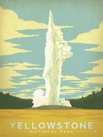 Yellowstone National Park Retro Travel Poster