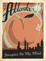 Atlanta, Georgia Retro Travel Poster