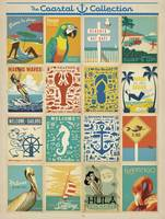 Coastal Postcard Collection - Retro Travel Poster
