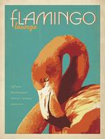 Flamingo Lounge Retro Poster
