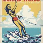 """""""Making Waves - Retro Poster"""" by artlicensing"""