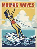 Making Waves - Retro Poster