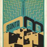"""Santa Fe, New Mexico: The City Different - Retro T"" by artlicensing"