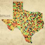 """Texas County Map"" by artlicensing"