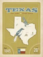 Texas: The Lone Star State - Retro Travel Poster