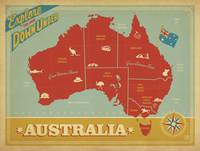 Australia: Explore the Land Down Under - Retro Tra