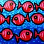 """Nine Happy Fish"" by artlicensing"
