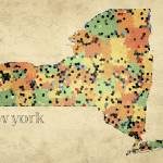"""New York County Map"" by artlicensing"