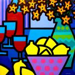 """Wine, Lemons and Flowers"" by artlicensing"