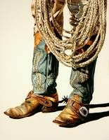 Boots And Rawhide Rope I