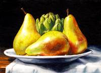 Three Pears And An Artichoke