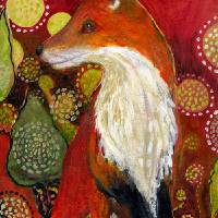 Fox Listens Art Prints & Posters by Jennifer Lommers