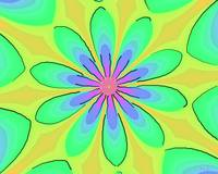 Return to the 70s Psychedelic Flower