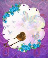 Buttrfly Dreams Jeweled Mixed Media