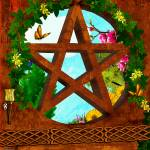 """Oasis Pagan Folk Art"" by ReneeLozenGraphics"