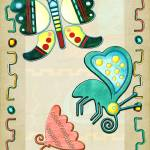 """Zuni Butterfly 2 Folk Art"" by ReneeLozenGraphics"