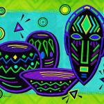 """Artifact African Pop Art"" by ReneeLozenGraphics"