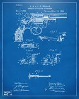 1896WessonSafetyDeviceRevolverPatent_Blueprint4x5_