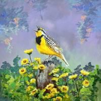 Meadowlark Song Art Prints & Posters by Sandra Lett