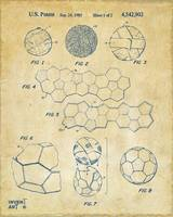 Soccer Ball Construction Patent Artwork Vintage