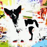 """Abstract Pet Pop Art Animals Colorful"" by GinetteCallaway"