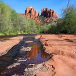 """Sedona Red Rock Crossing 1st Steps"" by laurielarson"