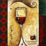 """""for wine lovers only"" Original Painting"" by meganduncanson"