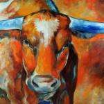 """TEXAS LONGHORN 2012"" by MBaldwinFineArt2006"