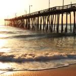 """Fishing Pier at Sunrise, Nags Head North Carolina"" by RoupenBaker"
