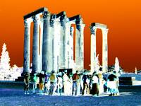 Athens, Temple of Zeus with Devotees