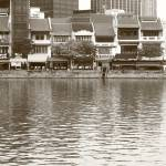"""The Singapore River 2014, Black/white photography"" by sghomedeco"