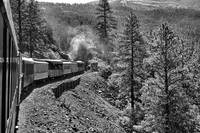 Durango Silverton Train en route