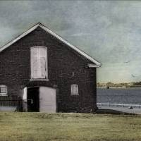 The Boathouse, Newport R.I. Art Prints & Posters by Robin-Lee Vieira