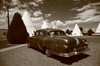 Route 66 - Wigwam Motel and Classic Car