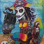 """Pirate Girl - Surfs Up"" by ArtPrints"