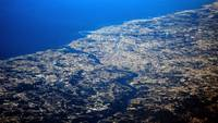 Porto At 35,000ft., No Clouds Or Mist! Rare!