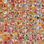 """Summer Fun Confetti. Modern Mosaic Tile Art Painti"" by MarkLawrence"