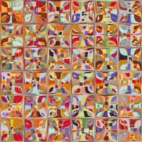 Summer Fun Confetti. Modern Mosaic Tile Art Painti